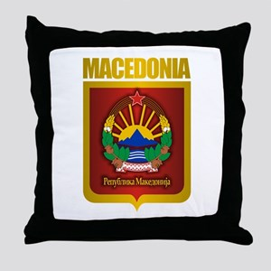 """Macedonian Gold"" Throw Pillow"