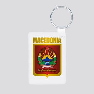 """Macedonian Gold"" Aluminum Photo Keychain"