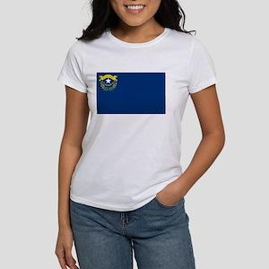 Nevada State Flag Women's White T-Shirt