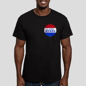 I Like Dykes Men's Fitted T-Shirt (dark)