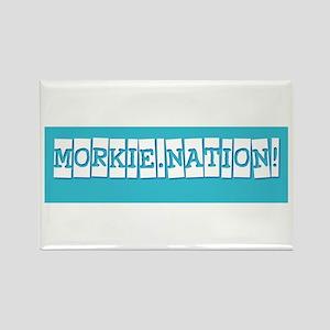 Morkie Nation Rectangle Magnet
