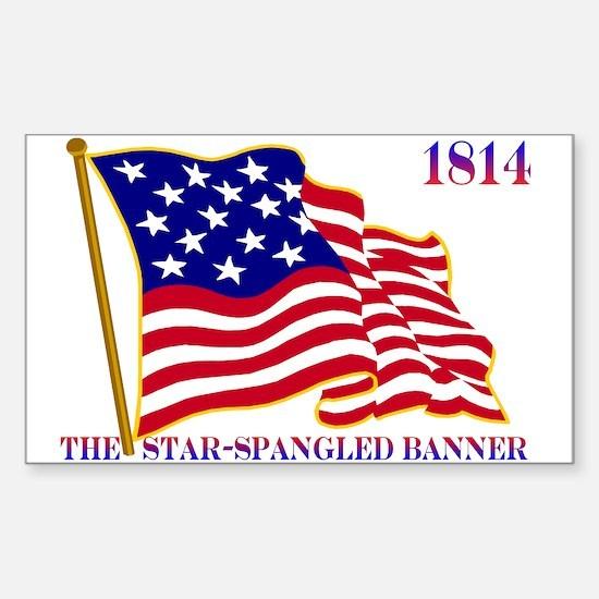 Star-Spangled Banner Sticker (Rectangle 10 pk)