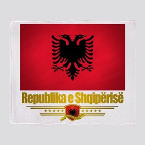 """Albanian Pride"" Throw Blanket"