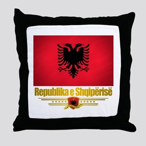 """Albanian Pride"" Throw Pillow"
