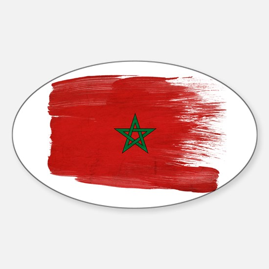 Morocco Flag Sticker (Oval)