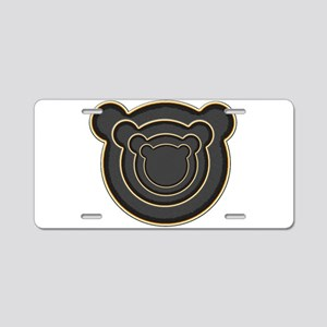 Bear Head Aluminum License Plate