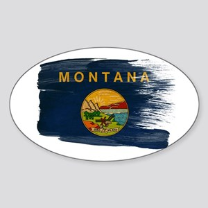 Montana Flag Sticker (Oval)