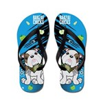 Kawaii Bazooks the Bulldog Flip Flops