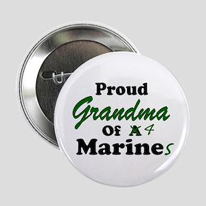 Proud Grandma 4 Marines Button