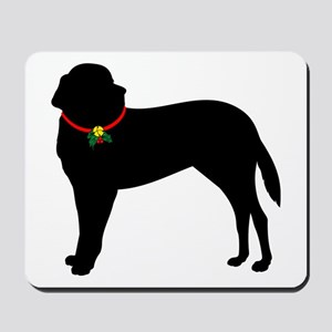 Christmas or Holiday Saint Bernard Silhouette Mous