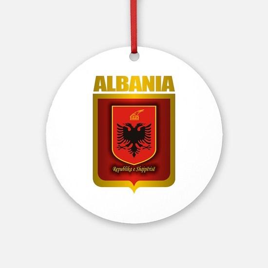 """Albanian Gold"" Ornament (Round)"