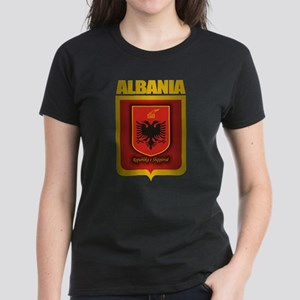 """Albanian Gold"" Women's Dark T-Shirt"
