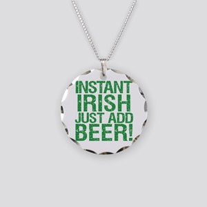 Instant Irish Just add Beer Necklace Circle Charm