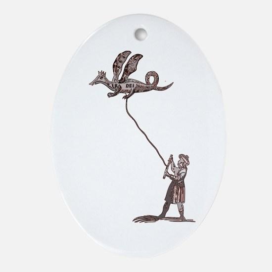 Dragon Kite for Men Ornament (Oval)