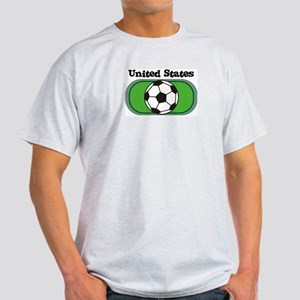 United States Soccer Field Ash Grey T-Shirt