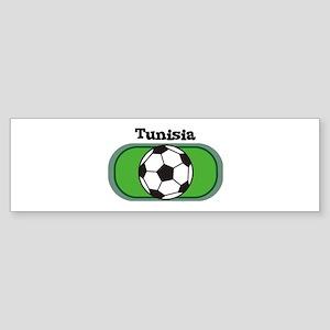 Tunisia Soccer Field Bumper Sticker