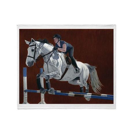 Hunter/Jumper Horse Throw Blanket