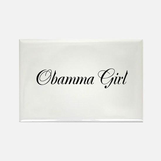 Obamma Girl Rectangle Magnet