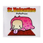 Valentine PeRoPuuu Throw Blanket
