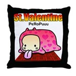 Valentine PeRoPuuu Throw Pillow