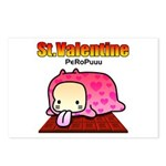 Valentine PeRoPuuu Postcards (Package of 8)
