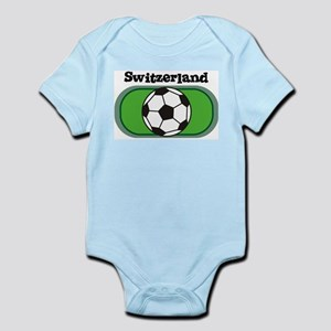Switzerland Soccer Field Infant Creeper