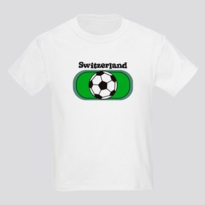 Switzerland Soccer Field Kids T-Shirt