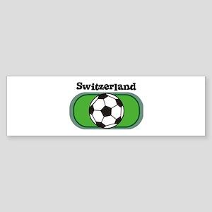 Switzerland Soccer Field Bumper Sticker