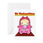 Valentine PeRoPuuu 2 Greeting Cards (Pk of 10)