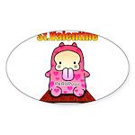 Valentine PeRoPuuu 2 Sticker (Oval)