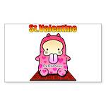 Valentine PeRoPuuu 2 Sticker (Rectangle)