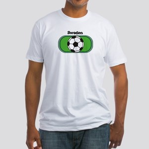 Sweden Soccer Field Fitted T-Shirt