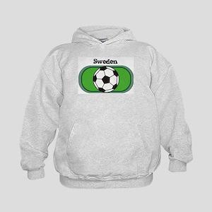 Sweden Soccer Field Kids Hoodie