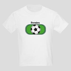 Sweden Soccer Field Kids T-Shirt