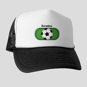 Sweden Soccer Field Trucker Hat