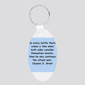 ulysses s. grant Aluminum Oval Keychain