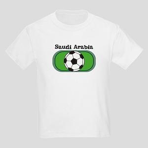 Saudi Arabia Soccer Field Kids T-Shirt