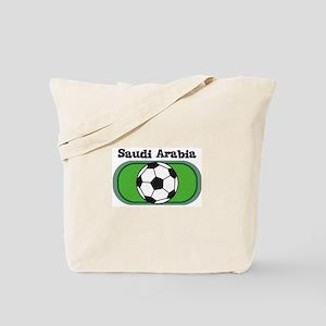 Saudi Arabia Soccer Field Tote Bag