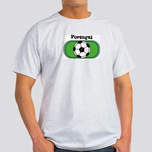 Portugal Soccer Field Ash Grey T-Shirt
