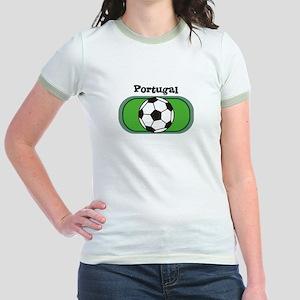 Portugal Soccer Field Jr. Ringer T-Shirt