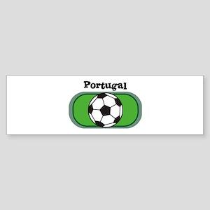 Portugal Soccer Field Bumper Sticker