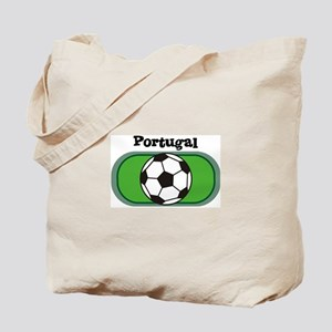 Portugal Soccer Field Tote Bag