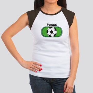 Poland Soccer Field Women's Cap Sleeve T-Shirt