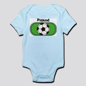 Poland Soccer Field Infant Creeper