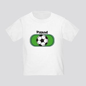 Poland Soccer Field Toddler T-Shirt