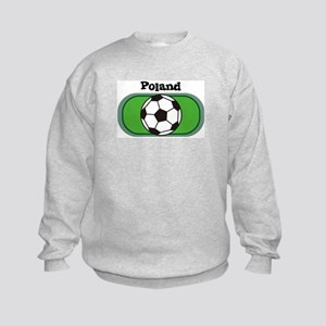 Poland Soccer Field Kids Sweatshirt