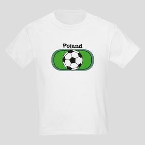Poland Soccer Field Kids T-Shirt