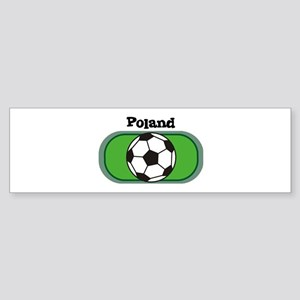 Poland Soccer Field Bumper Sticker