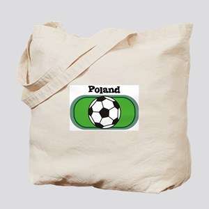 Poland Soccer Field Tote Bag