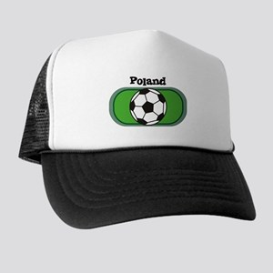 Poland Soccer Field Trucker Hat